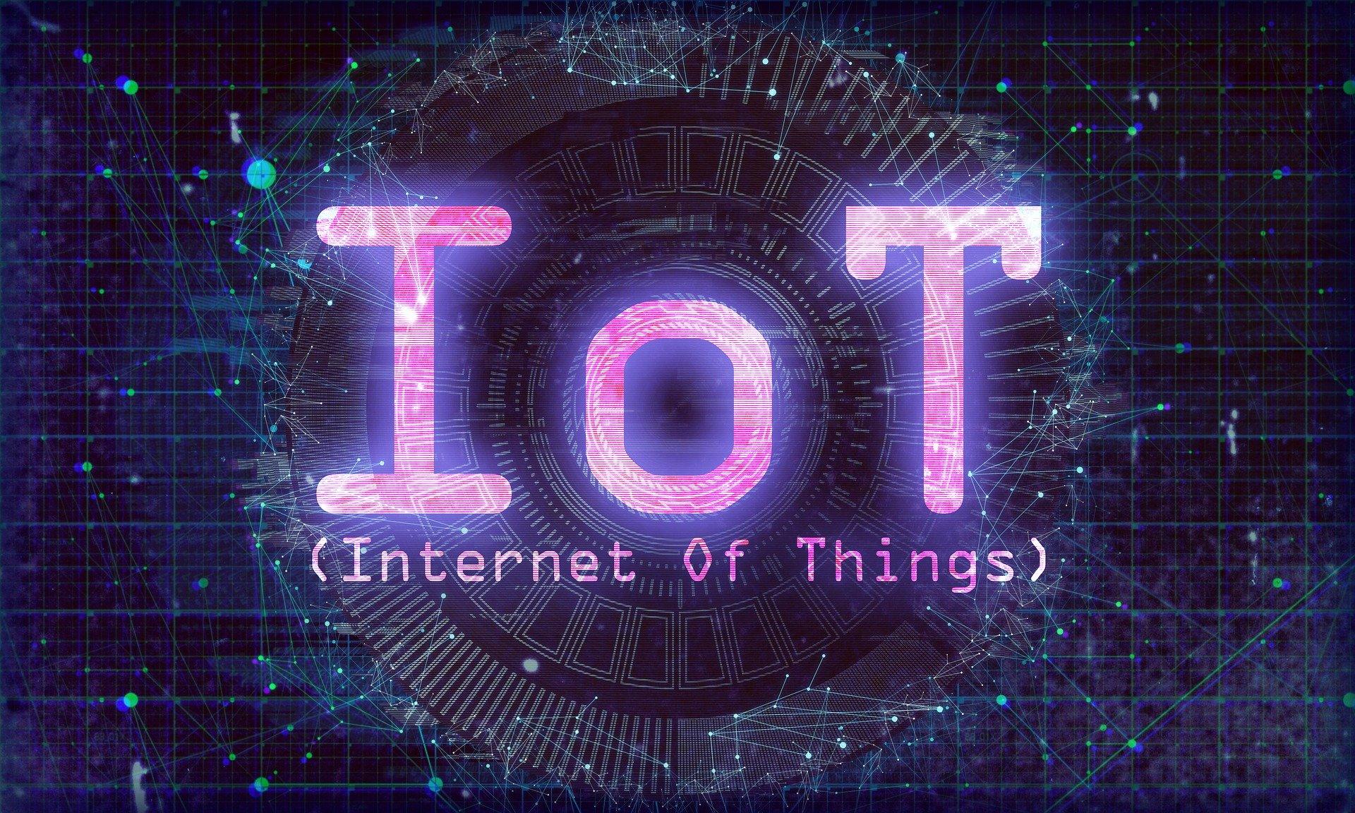 IoT, Internet der Dinge abstrakte Darstellung